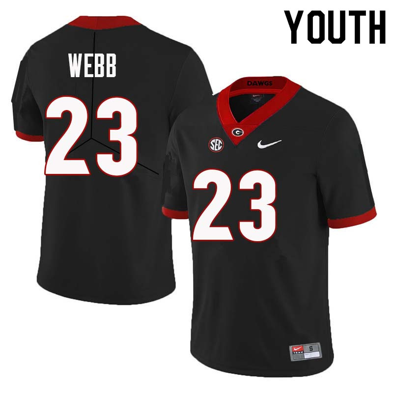 Youth Georgia Bulldogs #23 Mark Webb College Football Jerseys Sale-Black