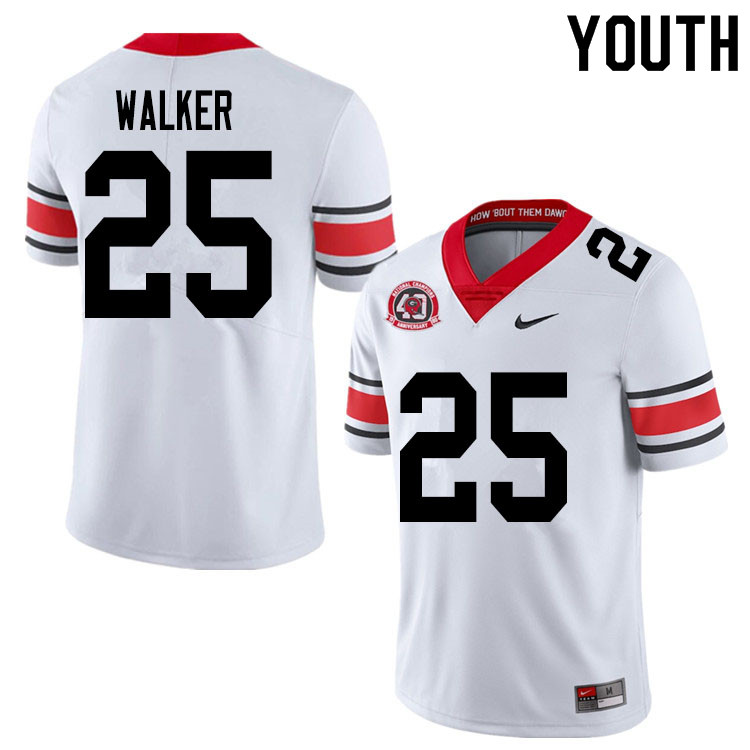 2020 Youth #25 Quay Walker Georgia Bulldogs 1980 National Champions 40th Anniversary College Footbal
