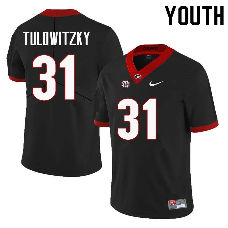 Youth Georgia Bulldogs #31 Reid Tulowitzky College Football Jerseys Sale-Black