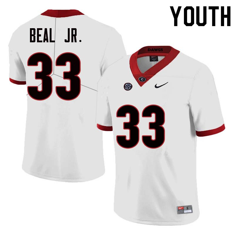Youth Georgia Bulldogs #33 Robert Beal Jr. College Football Jerseys Sale-White