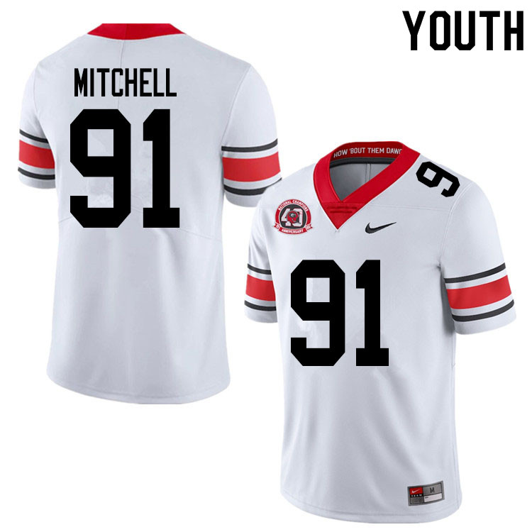 2020 Youth #91 Tymon Mitchell Georgia Bulldogs 1980 National Champions 40th Anniversary College Foot
