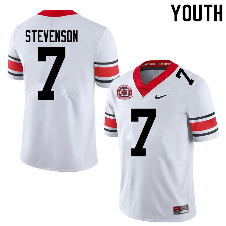 2020 Youth #7 Tyrique Stevenson Georgia Bulldogs 1980 National Champions 40th Anniversary College Fo