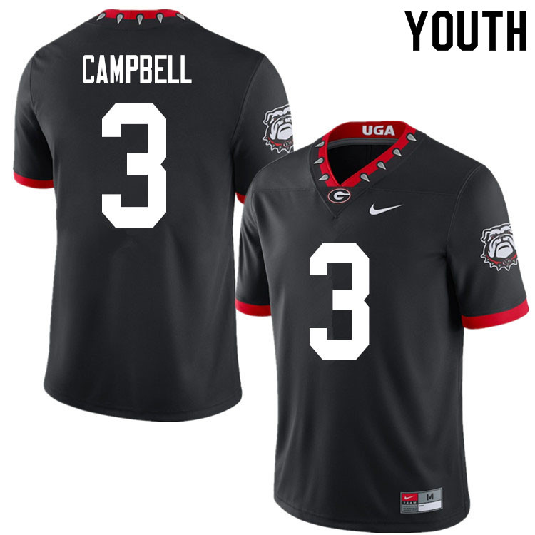2020 Youth #3 Tyson Campbell Georgia Bulldogs Mascot 100th Anniversary College Football Jerseys Sale