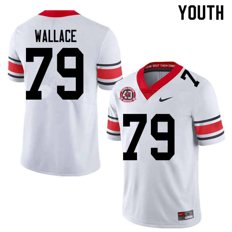 2020 Youth #79 Weston Wallace Georgia Bulldogs 1980 National Champions 40th Anniversary College Foot