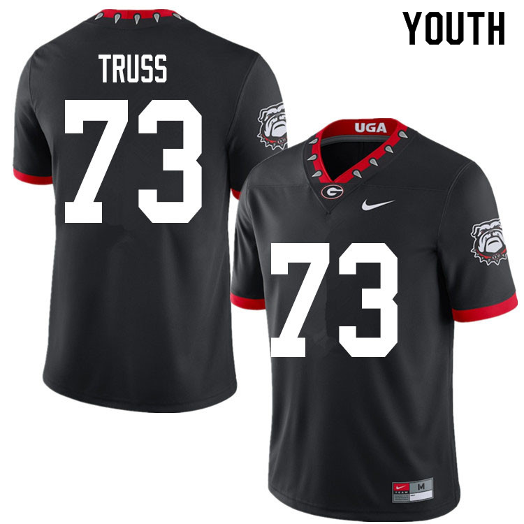 2020 Youth #73 Xavier Truss Georgia Bulldogs Mascot 100th Anniversary College Football Jerseys Sale-